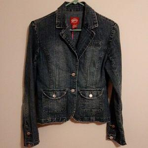 Dungaree Jean Jacket. Size Medium. Medium Wash